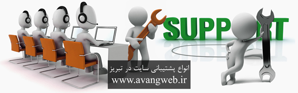 انواع پشتیبانی سایت در تبریز